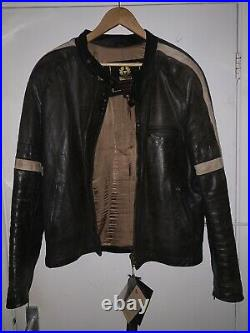 Very Rare Iconic Belstaff War Of The Worlds Hero Brown Leather Jacket Size XL