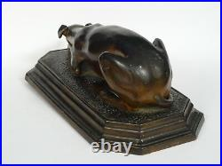 Very Rare Large Antique Torquay Pottery Dog Sculpture 13.5