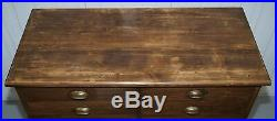 Very Rare Large Victorian Photographers Chest Bank Of Drawers Collectors Chest