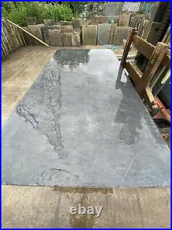 Very Rare Large Welsh Blue Slate, Smooth Industrial Table Top 4ft X 8ft £1250