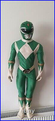 Very Rare Mighty Morphin Power Rangers large Green Ranger 1994 90s