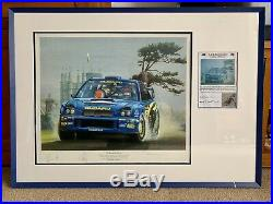 Very Rare Richard Burns Subaru Wrc Very Large Signed 88x65cm Picture With COA