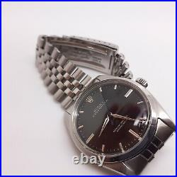 Very Rare Rolex Oyster Perpetual 36 mm Black Large Head Watch 5504 Circa 1959