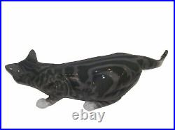 Very large and rare Royal Copenhagen figurine, cat with stripes