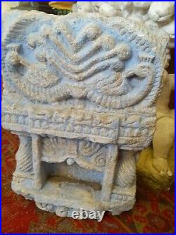 Very large rare indian hand carved stone wall temples. Nich