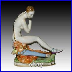 Very rare Meissen Large porcelain figurine Nude Diana Huntress by Paul Scheurich