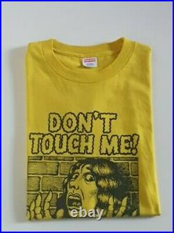 Very rare SS07 Supreme x R. Crumb Don't touch me tee size L yellow T-shirt Large