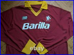 Very rare Vintage 80s AS Roma #9 NR L/S home shirt, jersey, maglia 1987 1988