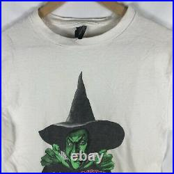 Vintage 1980s The Wizard Of Oz Witch T Shirt Very Rare! Large White Movie Tee