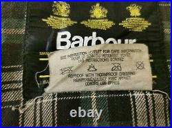 Vintage Barbour A130 Spey Olive Green Fly Fishing Jacket Size Large VERY RARE