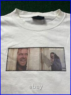 Vintage SERIAL KILLER The Shining Movie Jack Nicholson t-shirt Large Very Rare