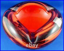 WOW Very Rare! DOLPHIN GLASS Japan THICK CRYSTAL ART GLASS Ashtray Bowl VG AUST