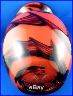 WOW Very Rare! Vintage DOLPHIN GLASS Japan HEAVY THICK CRYSTAL ART GLASS Vase AU