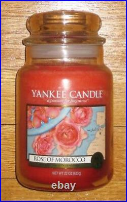 Yankee Candle WORLD JOURNEYS ROSE OF MOROCCO 22 oz VERY RARE